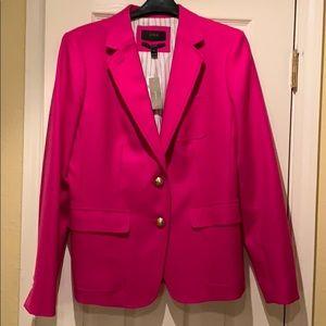 """J.Crew NWT hot pink """"Rhodes"""" Blazer"""